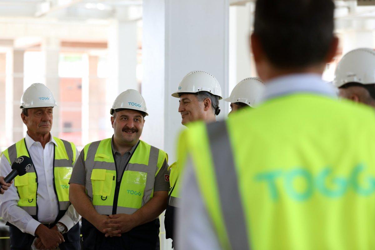 Mustafa Varank, TOGG un üretim tesisinin inşaatını inceledi #4