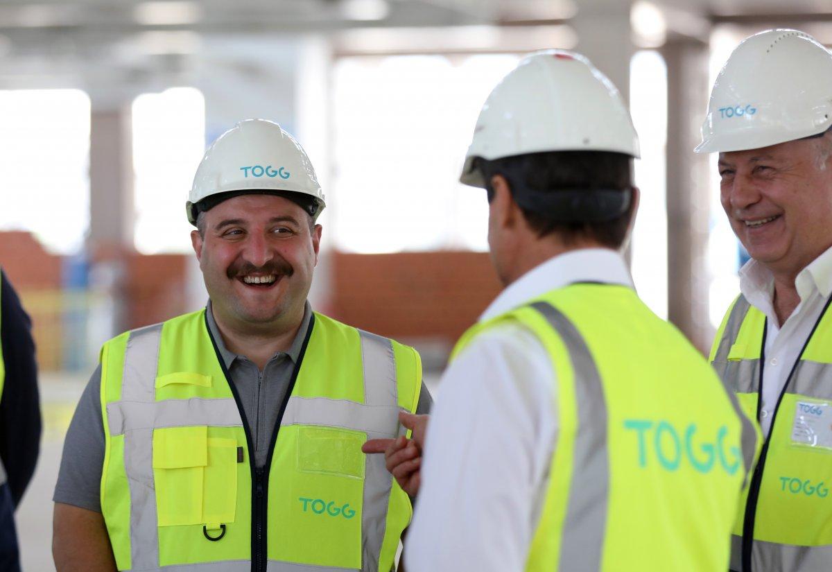 Mustafa Varank, TOGG un üretim tesisinin inşaatını inceledi #2