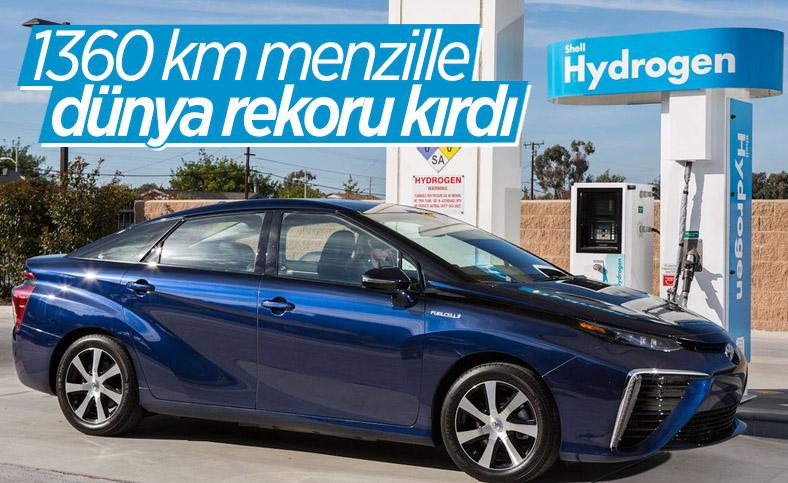 Hidrojenle çalışan Toyota Mirai, 1360 km menzille dünya rekoru kırdı
