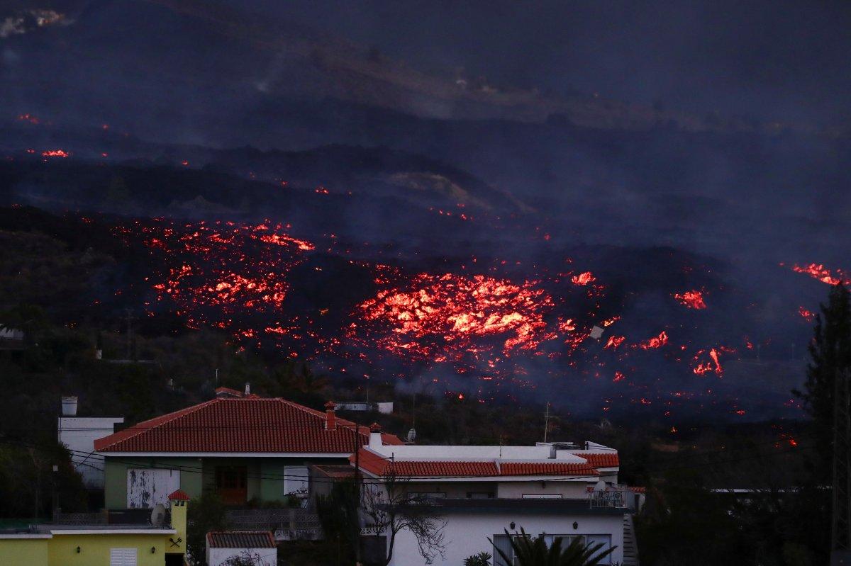 La Palma Adası nda lavlar 1458 binayı yakıp yıktı #1