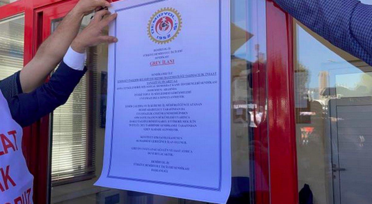 İzmir de metro ve tramvay işçileri grev kararı astı #3