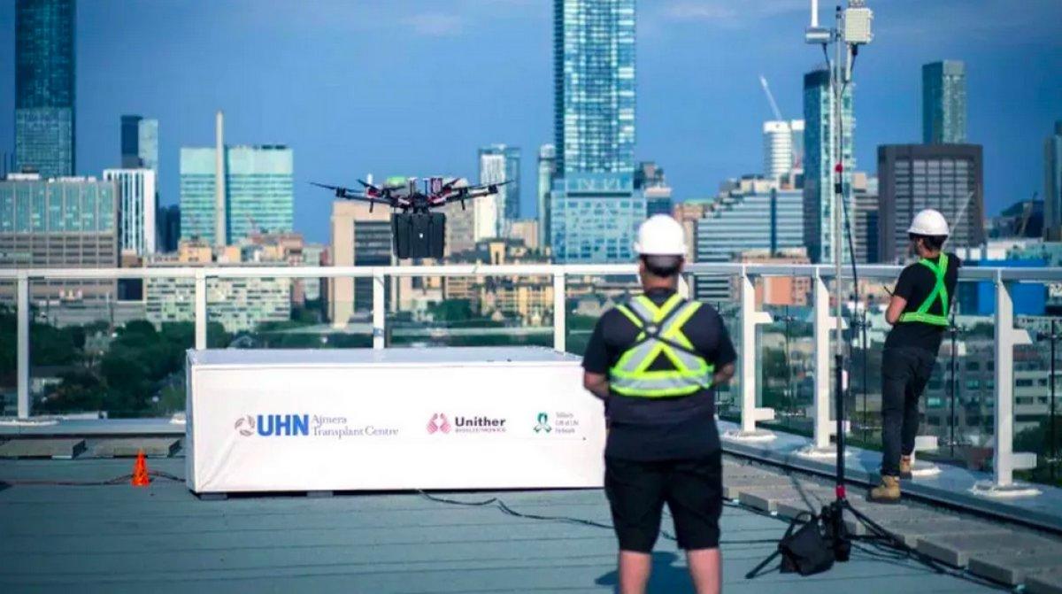 Kanada da hastaya nakledilecek akciğer ilk kez drone ile taşındı #1