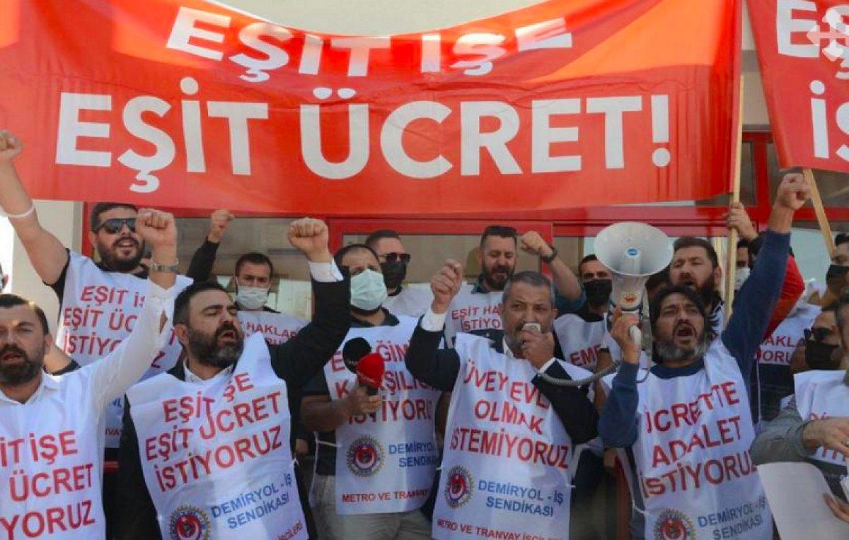 İzmir de metro ve tramvay işçileri grev kararı astı #2
