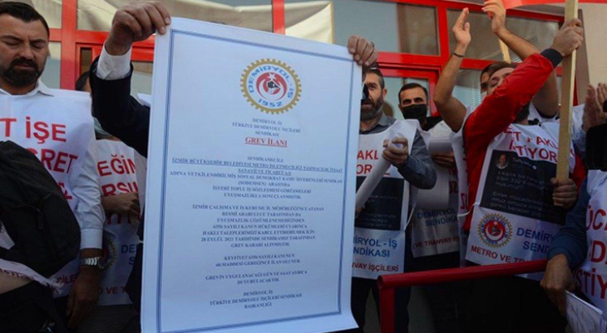 İzmir de metro ve tramvay işçileri grev kararı astı #4