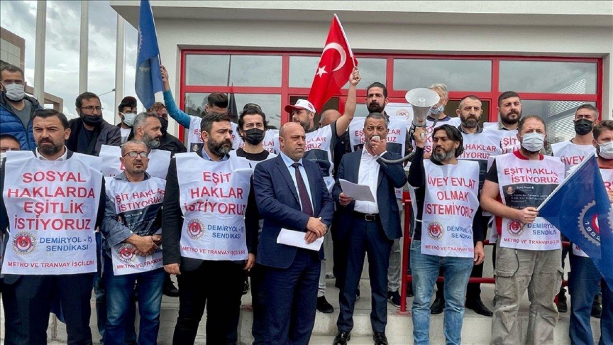 İzmir de metro ve tramvay işçileri grev kararı astı #1