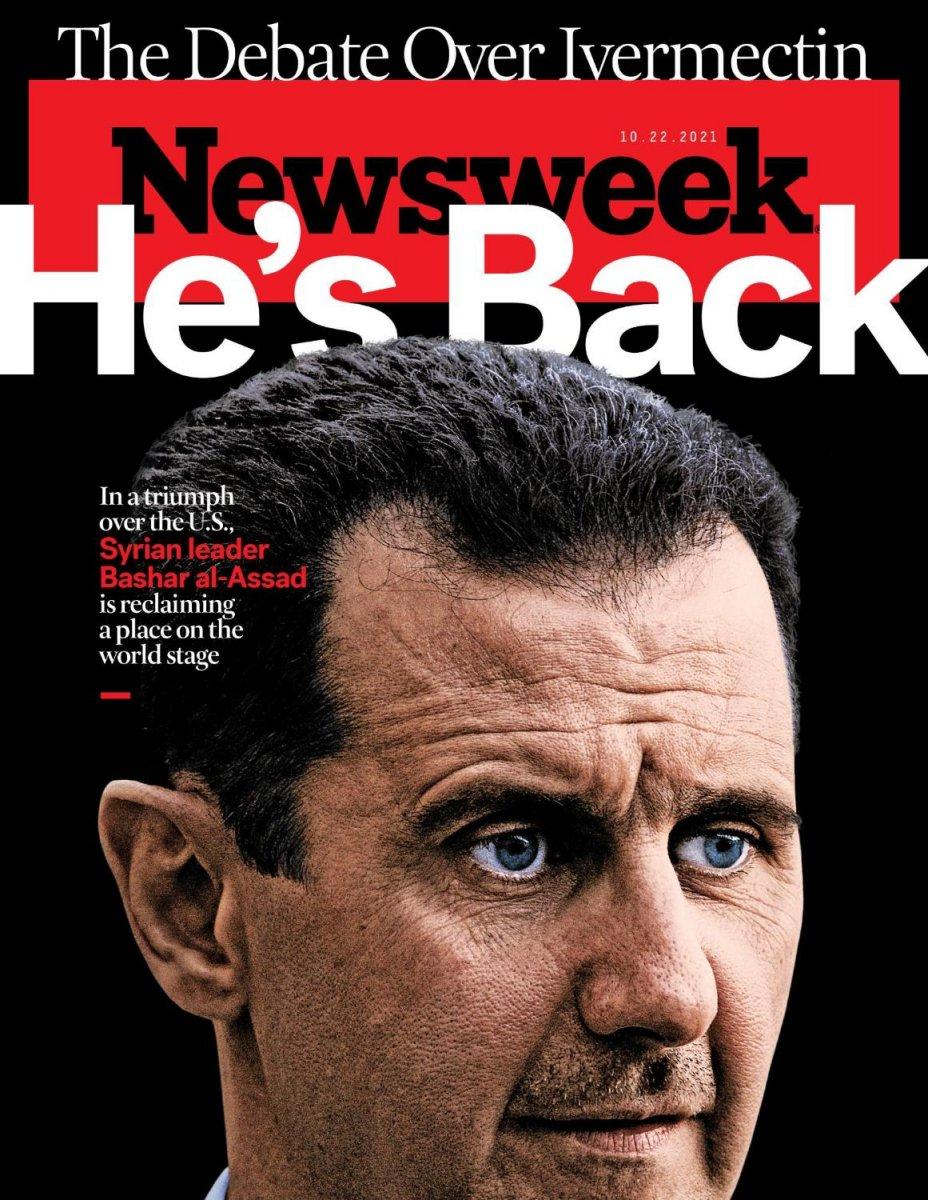 ABD dergisinin Esad lı kapağı: Geri döndü #1