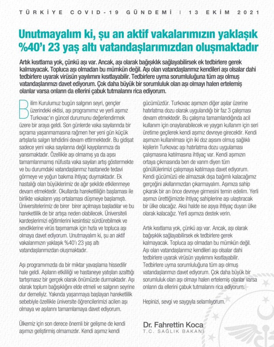 Fahrettin Koca dan Bilim Kurulu sonrası açıklama   #2