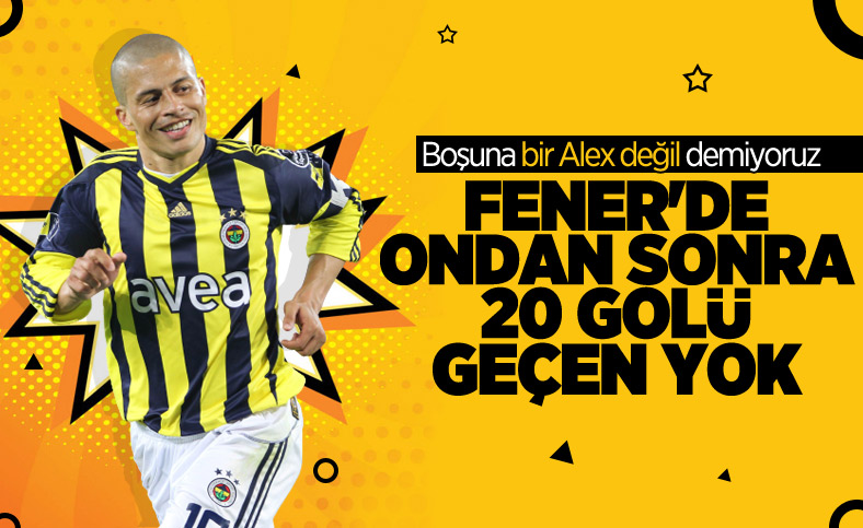 Fenerbahçe'de Alex de Souza'yı geçen yok