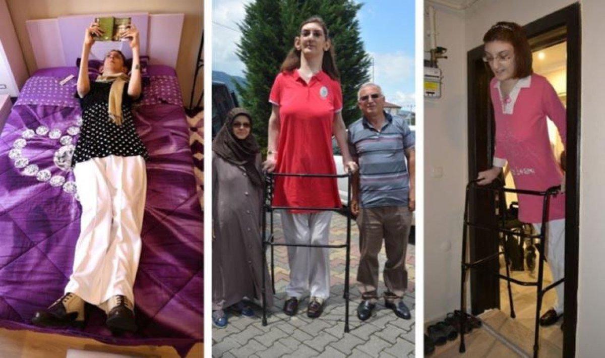 Dünyanın en uzun boylu kadını Rümeysa Gelgi Guinness Rekorlar Kitabı nda #1