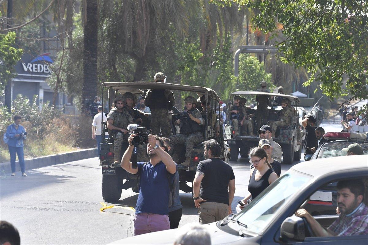 Beyrut taki patlama soruşturması protesto edilince sokaklar karıştı #14