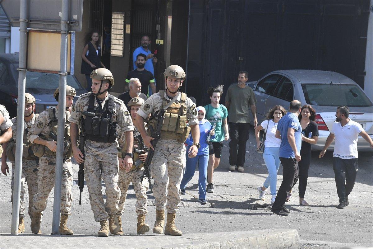 Beyrut taki patlama soruşturması protesto edilince sokaklar karıştı #18