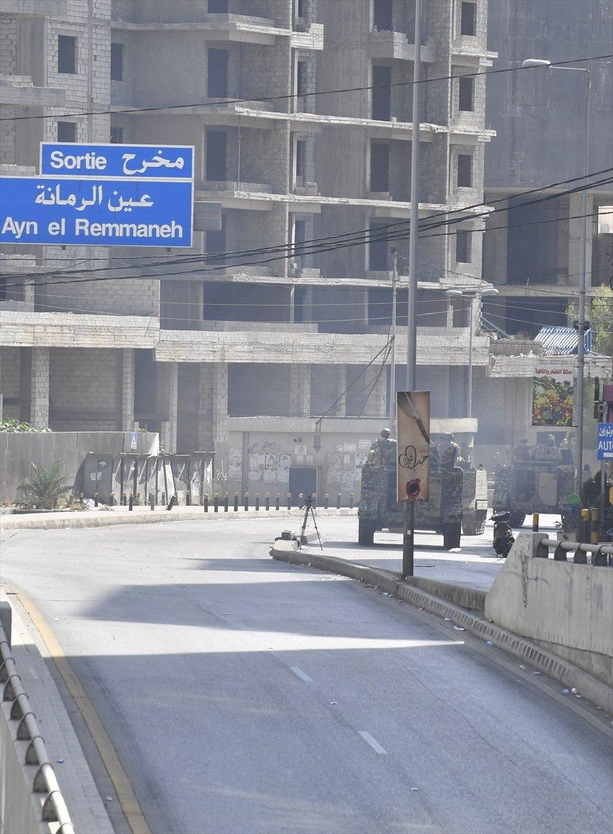 Beyrut taki patlama soruşturması protesto edilince sokaklar karıştı #17