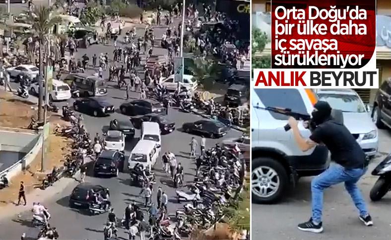 Beyrut'taki patlama soruşturması protesto edilince sokaklar karıştı