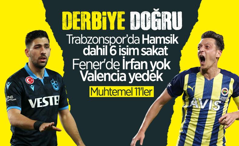 Trabzonspor - Fenerbahçe maçı öncesi son durum