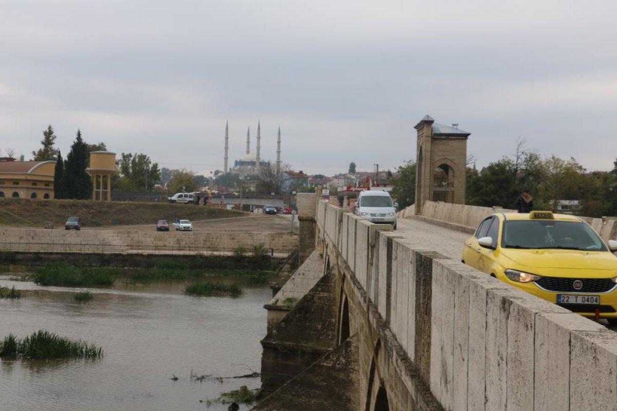 Edirne de nehirlerde su taşkını yaşandı #4