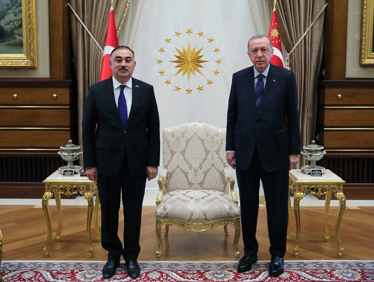Azerbaycan ın Ankara Büyükelçisi Mammadov, Erdoğan a güven mektubu sundu #3