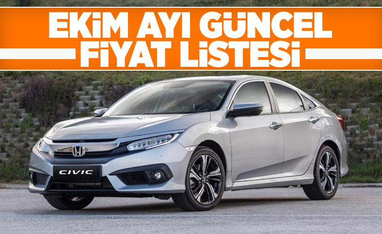 Honda Civic ekim ayı güncel fiyat listesi ve öne çıkan özellikler