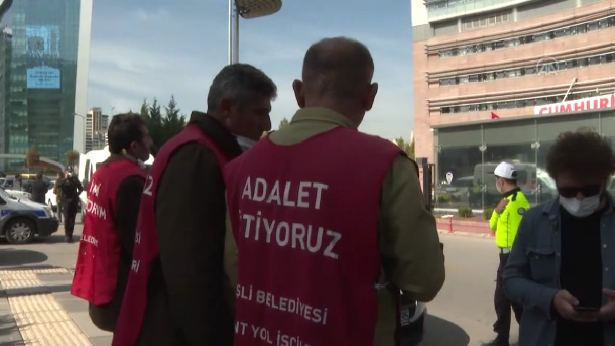 Şişli de belediyeden çıkarılan işçiler, CHP nin önünde açlık grevine girdi #1