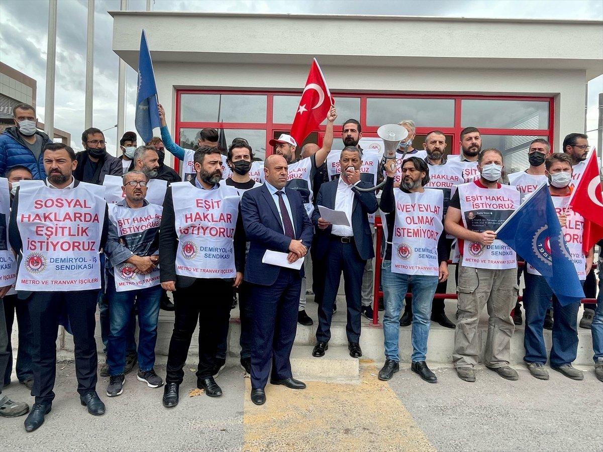 İzmir de metro ve tramvay çalışanları greve gidiyor #3