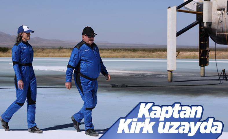 'Kaptan Kirk' William Shatner, Blue Origin roketi ile uzaya fırlatıldı