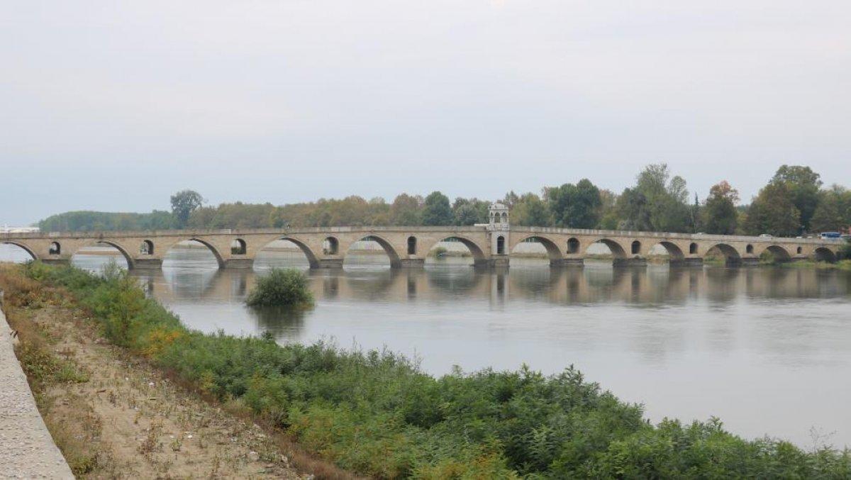 Edirne de nehirlerde su taşkını yaşandı #7