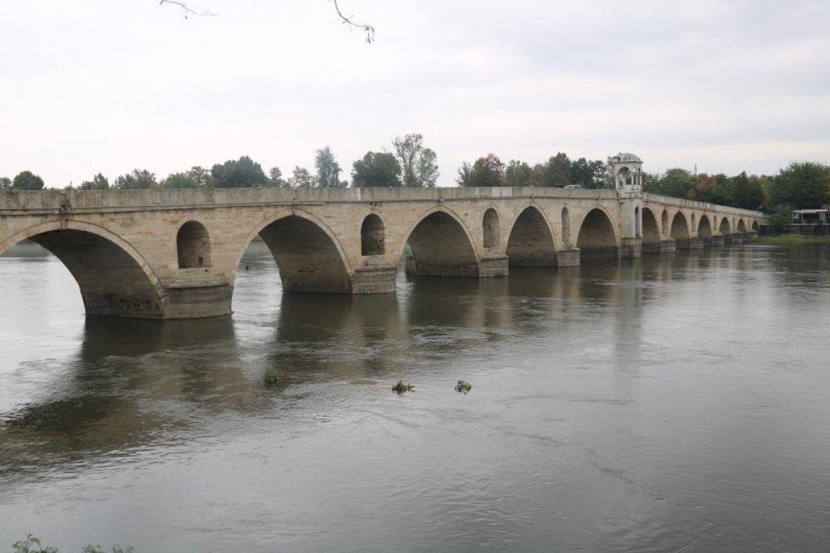 Edirne de nehirlerde su taşkını yaşandı #1