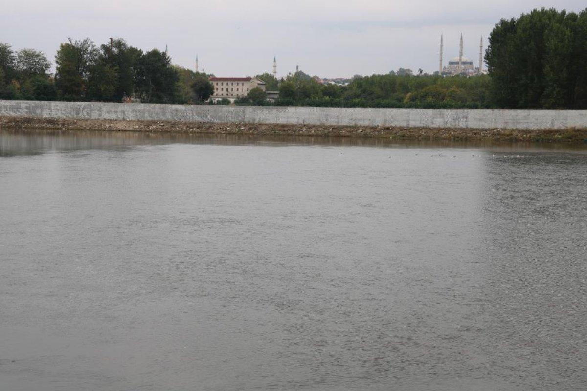 Edirne de nehirlerde su taşkını yaşandı #8