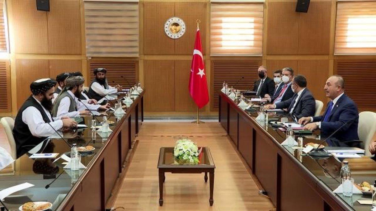 Mevlüt Çavuşoğlu ndan Taliban görüşmesine ilişkin açıklama #1