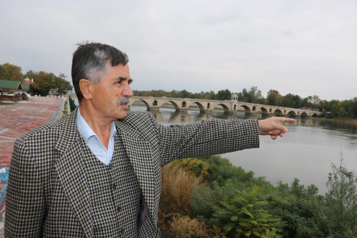 Edirne de nehirlerde su taşkını yaşandı #2