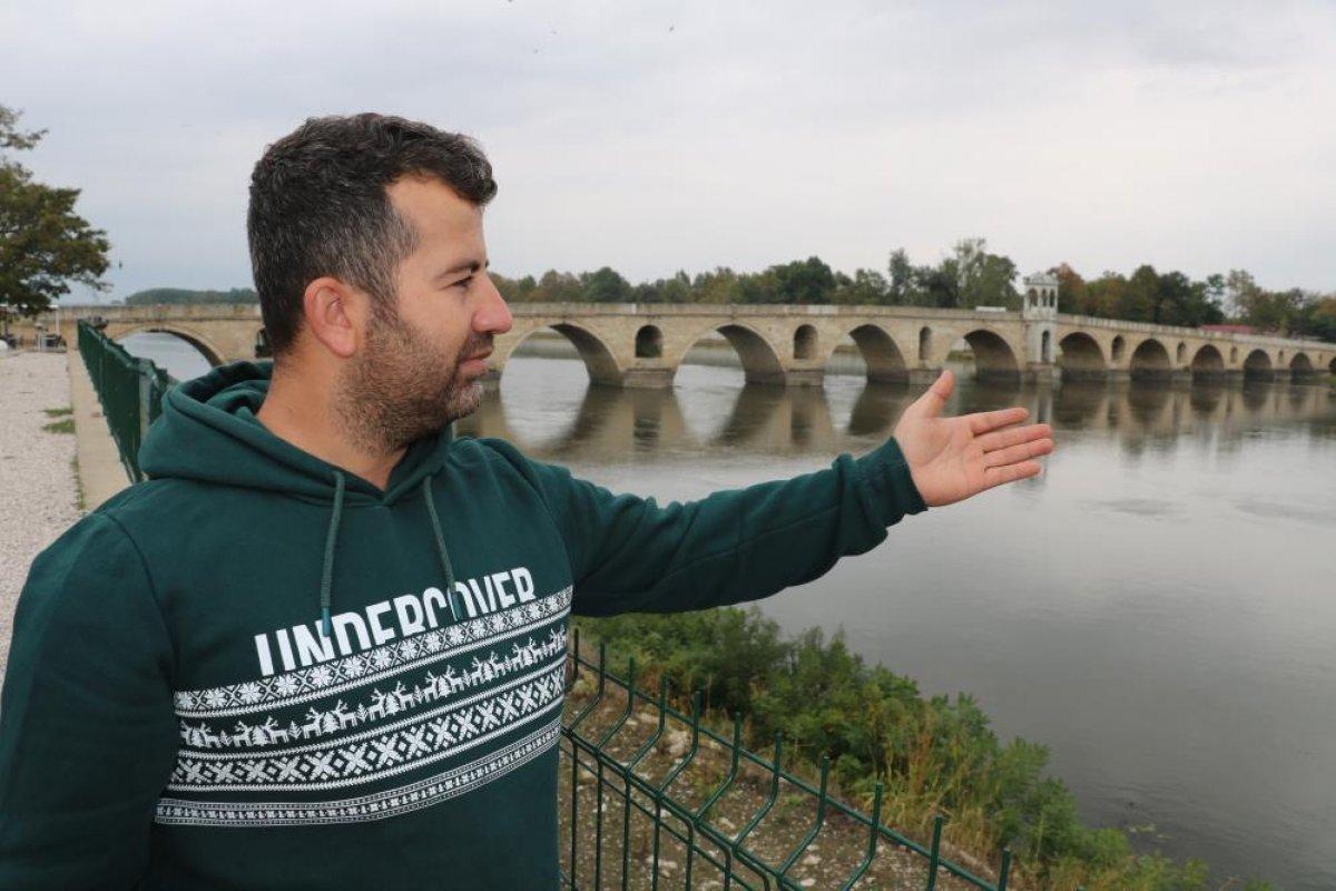 Edirne de nehirlerde su taşkını yaşandı #3