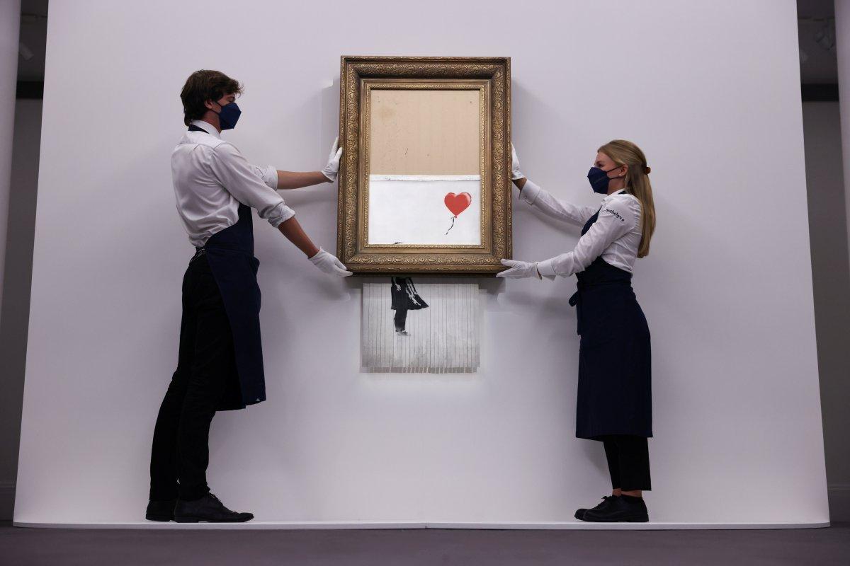 Banksy nin parçalanan eseri, 18.5 milyon sterline satıldı #4