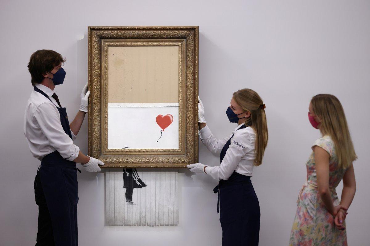 Banksy nin parçalanan eseri, 18.5 milyon sterline satıldı #2