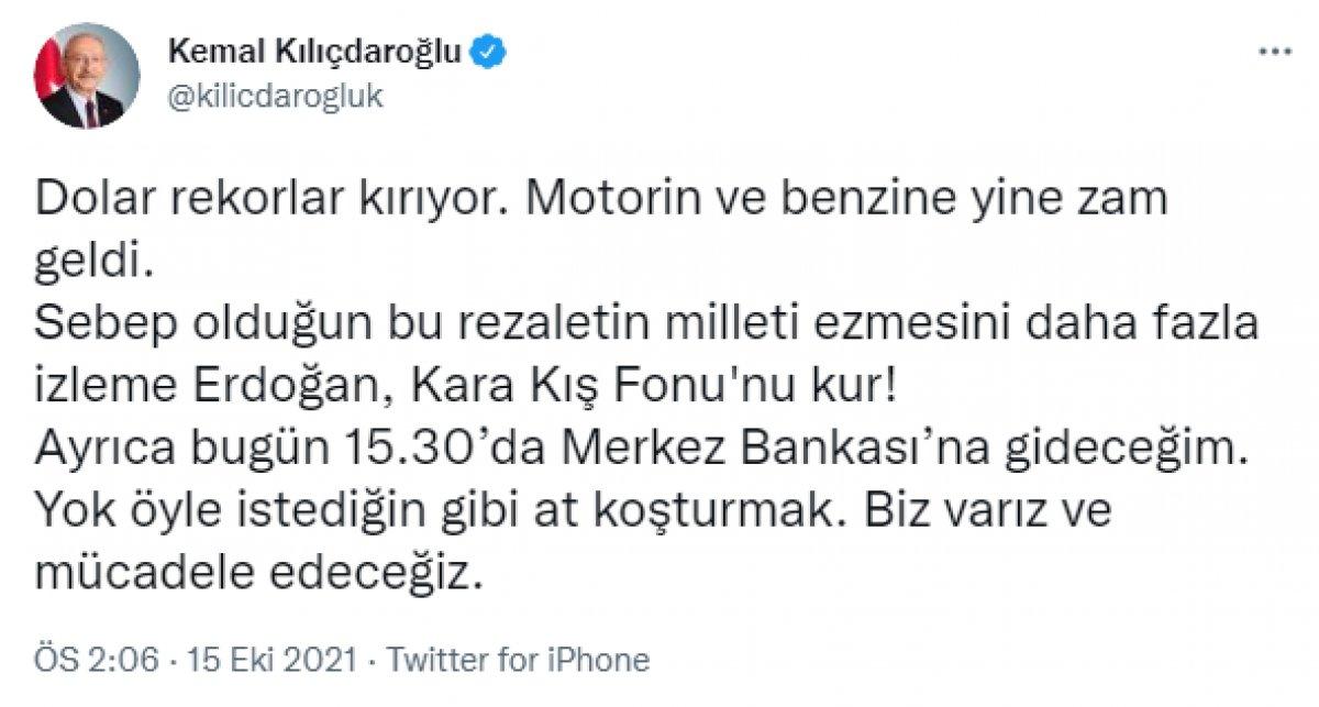 Kemal Kılıçdaroğlu, Merkez Bankası nda #1