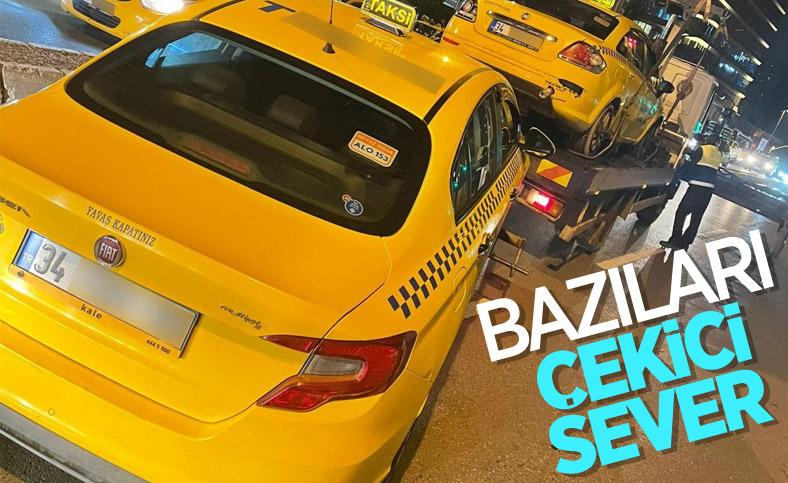 İstanbul'da yolcu seçen taksicilerin araçları çekildi