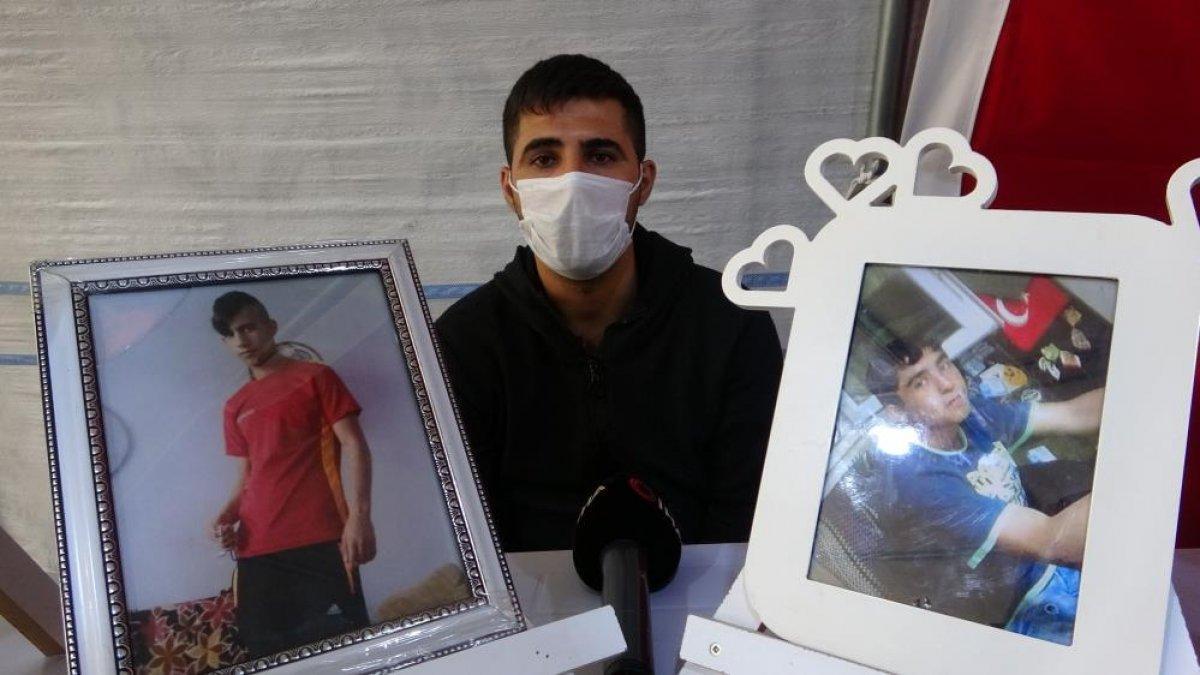 Diyarbakır da nöbete katılan ağabey: Kardeşimi HDP kaçırdı #4