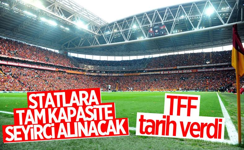 TFF: 9 Kasım'dan itibaren statlara tam kapasite seyirci alınacak