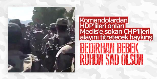 Komandolar PKK'nın kurbanı Bedirhan bebeği andı