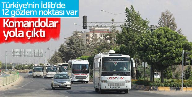 Komandolar İdlib sınırına gönderildi