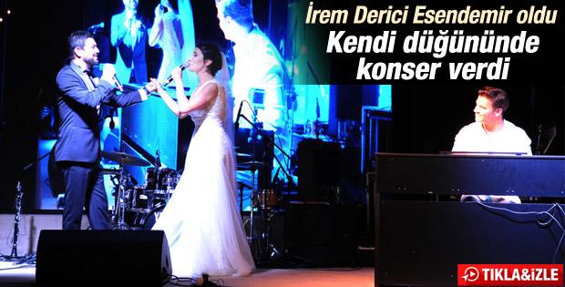 İrem Derici Rıza Esendemir'le evlendi İZLE