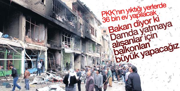 Terör mağdurları için 36 bin konut yapılacak