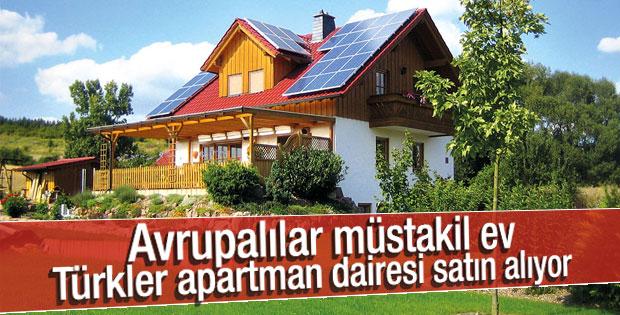 Türkler konut alırken apartman tercih ediyor