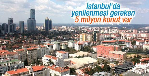 İstanbul'da yenilenmesi gereken 5 milyon konut var