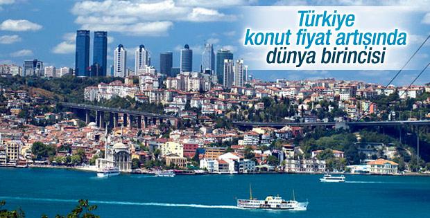 Türkiye konut fiyatları artışında birinci sırada