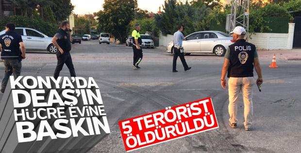 Konya'da DEAŞ'ın hücre evine baskın