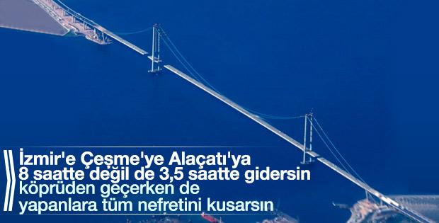 Cumhurbaşkanı'nın helikopterinden Körfez Köprüsü