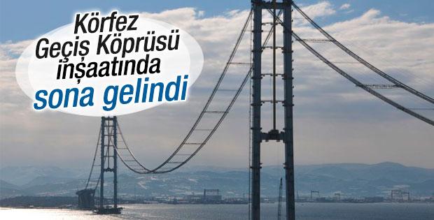 İzmit Körfez Geçişi Asma Köprüsü'nde sona gelindi