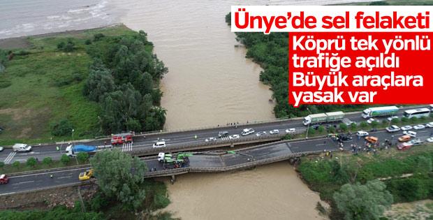 Cevizdere Köprüsü açıldı: Büyük araçlara yasak var