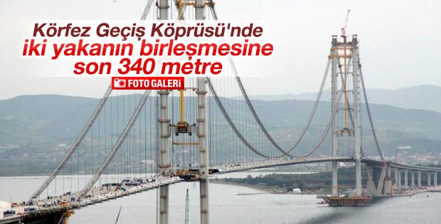 Körfez Geçiş Köprüsü'nde son 340 metre