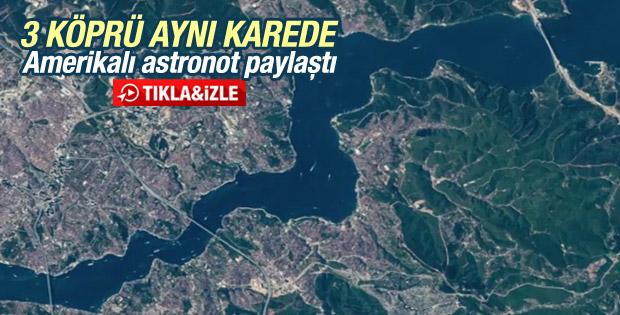 Amerikalı astronottan Twitter'da İstanbul paylaşımı