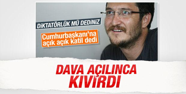 Erdoğan'a hakaret eden Koray Çalışkan'a dava